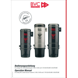 Bedienungsanleitung analoge BVC Geräte