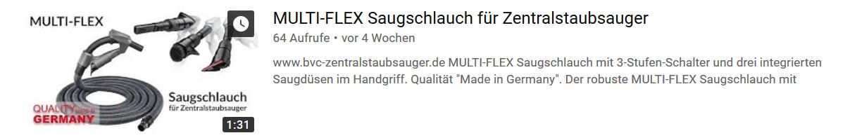 MULTI-FLEX Saugschlauch für Zentralstaubsauger