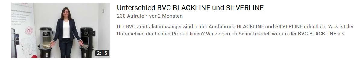 Unterschied BVC Silverline und BVC Blackline Zentralstaubsauger