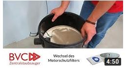 Wechsel Motorschutzfilter BVC Zentralstaubsauger