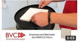 Einsetzen und Wechseln des HEPA13-Filters