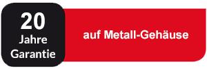 20 Jahre Garantie auf Metall-Gehäuse BVC Zentralstaubsauger
