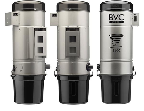 BVC SILVERLINE Zentralstaubsauger von der Seite, von hinten und von vorne