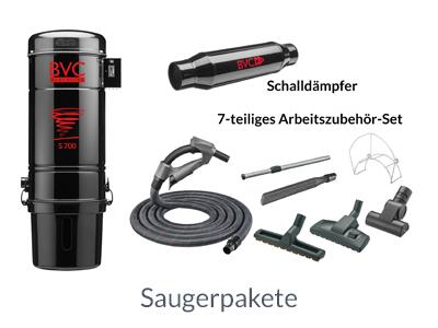 BVC Saugerpaket S 700 Blackline mit Multi-Flex Saugschlauch