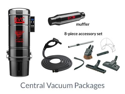 central vacuum package