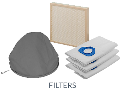 filters and dust bags for central vacuum cleaners