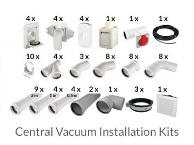 central vacuum installation kits