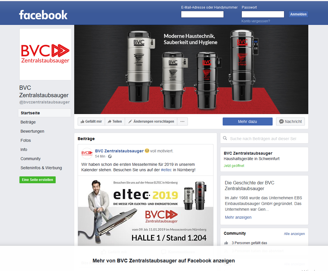 Find BVC on Facebook! 2