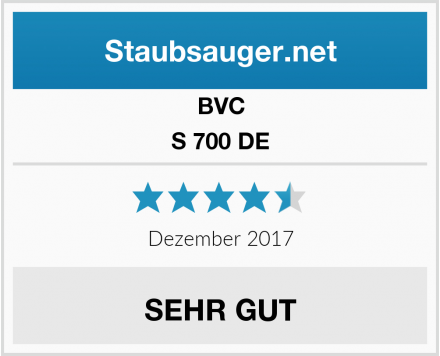 """BVC S 700 DE Blackline erhält das Testurteil """"sehr gut"""" 1"""