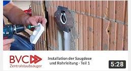 Installation Saugdose Zentralstaubsauger