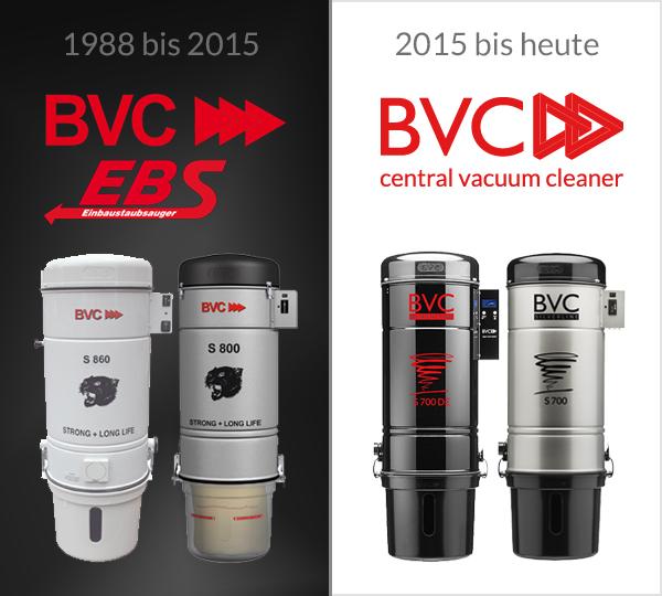 Geschichte EBS Einbaustaubsauger BVC Zentralstaubsauger