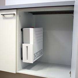 Integravac Einbaubeispiel Küchenschrank