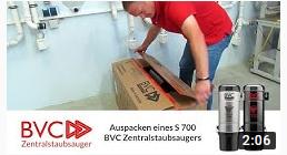 Auspacken der BVC Saugeinheit