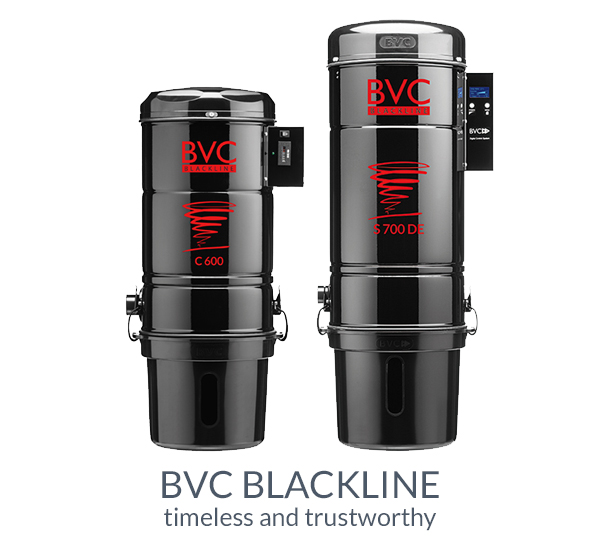 BVC Blackline central vacuum cleaner