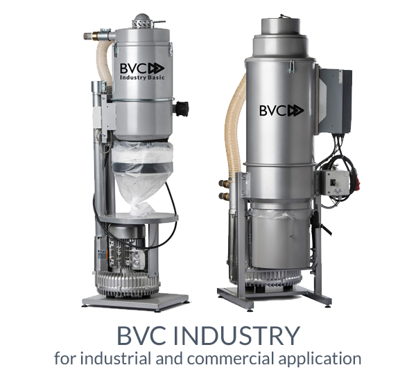 central vacuum cleaner for industry