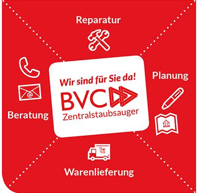 BVC Zentralstaubsauger wir sind für Sie da