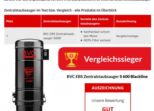 BVC Zentralstaubsauger Vergleichssieger